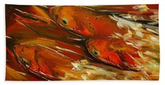 Large Trout Stream Fly Fish Beach Towel