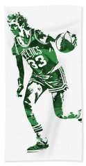 Larry Bird Boston Celtics Pixel Art 10 Beach Towel