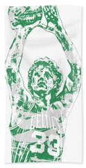 Larry Bird Boston Celtics Pixel Art 5 Beach Towel