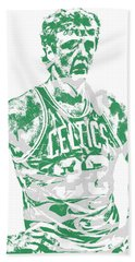 Larry Bird Boston Celtics Pixel Art 6 Beach Towel