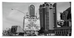 Beach Towel featuring the photograph Las Vegas 1994 #1 Bw by Frank Romeo