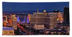 Beach Towel featuring the photograph Las Vegas Panoramic Aerial View by Susan Candelario