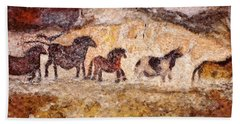 Lascaux Horses Beach Sheet