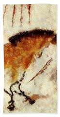 Lascaux Prehistoric Horse Detail Beach Sheet