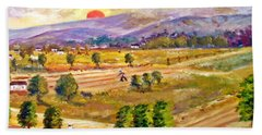 Lasithi Valley In Greece Beach Towel