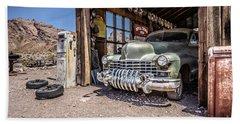 Last Chance Gas - Old Desert Garage Beach Towel