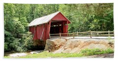 Last Covered Bridge In Sc Beach Towel