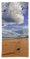 Last Day At The Beach Beach Towel by Jim Moore