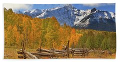 Beach Towel featuring the photograph Last Dollar Road - Telluride - Colorado by Jason Politte