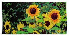 Last Garden 3 Beach Towel by Ron Richard Baviello