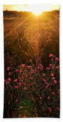 Beach Towel featuring the photograph Last Glimpse Of Light by Jan Amiss Photography