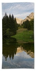Last Light At Lac De Fontaine Beach Towel