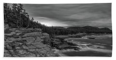 Last Light At Otter Cliff Beach Towel