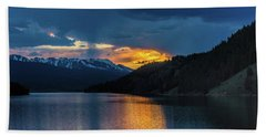 Last Light At Summit Cove Beach Towel