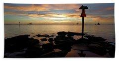 Last Light In Dunedin Beach Towel