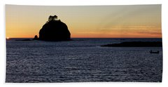 Last Light Beach Towel by Jane Eleanor Nicholas