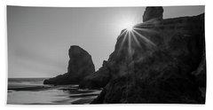 Last Light On The Coast Beach Towel