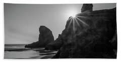 Last Light On The Coast Beach Sheet