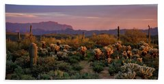 Beach Sheet featuring the photograph Last Light On The Sonoran  by Saija Lehtonen