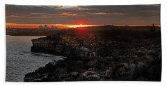 Beach Sheet featuring the photograph Last Light Over North Head Sydney by Miroslava Jurcik