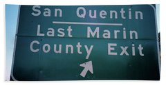 Last Marin County Exit Beach Sheet