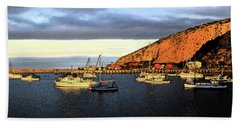 Beach Towel featuring the photograph Last Rays At The Bay by Nareeta Martin