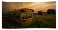 Beach Towel featuring the photograph Last Stop  by Aaron J Groen