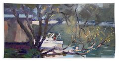 Last Sun Touches By Tonawanda Canal Beach Towel