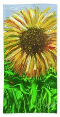 Last Sunflower Beach Towel