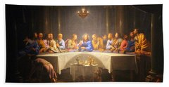 Last Supper Meeting Beach Towel