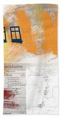 Last Train To Stockholm- Art By Linda Woods Beach Towel