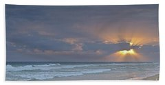 Late Afternoon In Ilha Deserta. Algarve Beach Towel