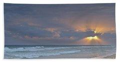 Late Afternoon In Ilha Deserta. Algarve Beach Sheet