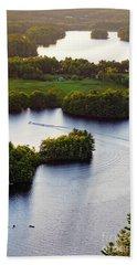 Late Afternoon On Lake Megunticook, Camden, Maine -43988 Beach Towel
