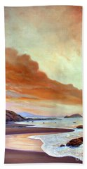 Late Afternoon On San Simeon Beach Beach Towel by Michael Rock