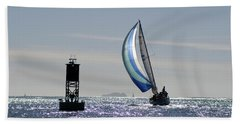 Late Afternoon Sail Beach Towel