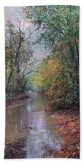 Late Autumn Afternoon Beach Towel by John Rivera