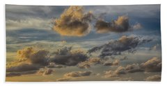 Beach Towel featuring the photograph Late Day Clouds On The Prisendam by John Haldane