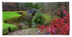 Late Fall At Mabry Mill Beach Towel