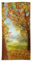 Late Fall Colors - Autumn Landscape Beach Sheet by Barry Jones