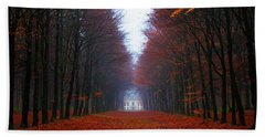 Late Fall Forest Beach Towel