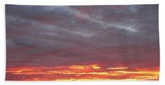 Late Prairie Sunrise Beach Towel