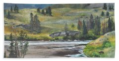 Late Summer In Yellowstone Beach Sheet by Lori Brackett