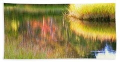Stillness Of Late Summer Marsh  Beach Towel
