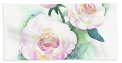 Late Summer Roses Beach Towel