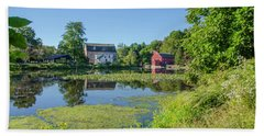 Late Summer - The Red Mill  On The Raritan River - Clinton New J Beach Towel by Bill Cannon