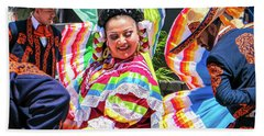 Latino Street Festival Dancers Beach Towel