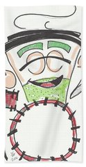 Latte Drummer Beach Towel