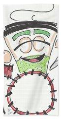 Latte Drummer Beach Towel