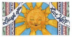 Laugh Love Live Beach Towel